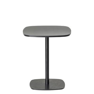 Mobilier - Tables basses - Table basse Nobis 40x40 cm / H 43 cm - Offecct - Noir -  40x40 cm / H 43 cm - Contreplaqué compact, Métal laqué