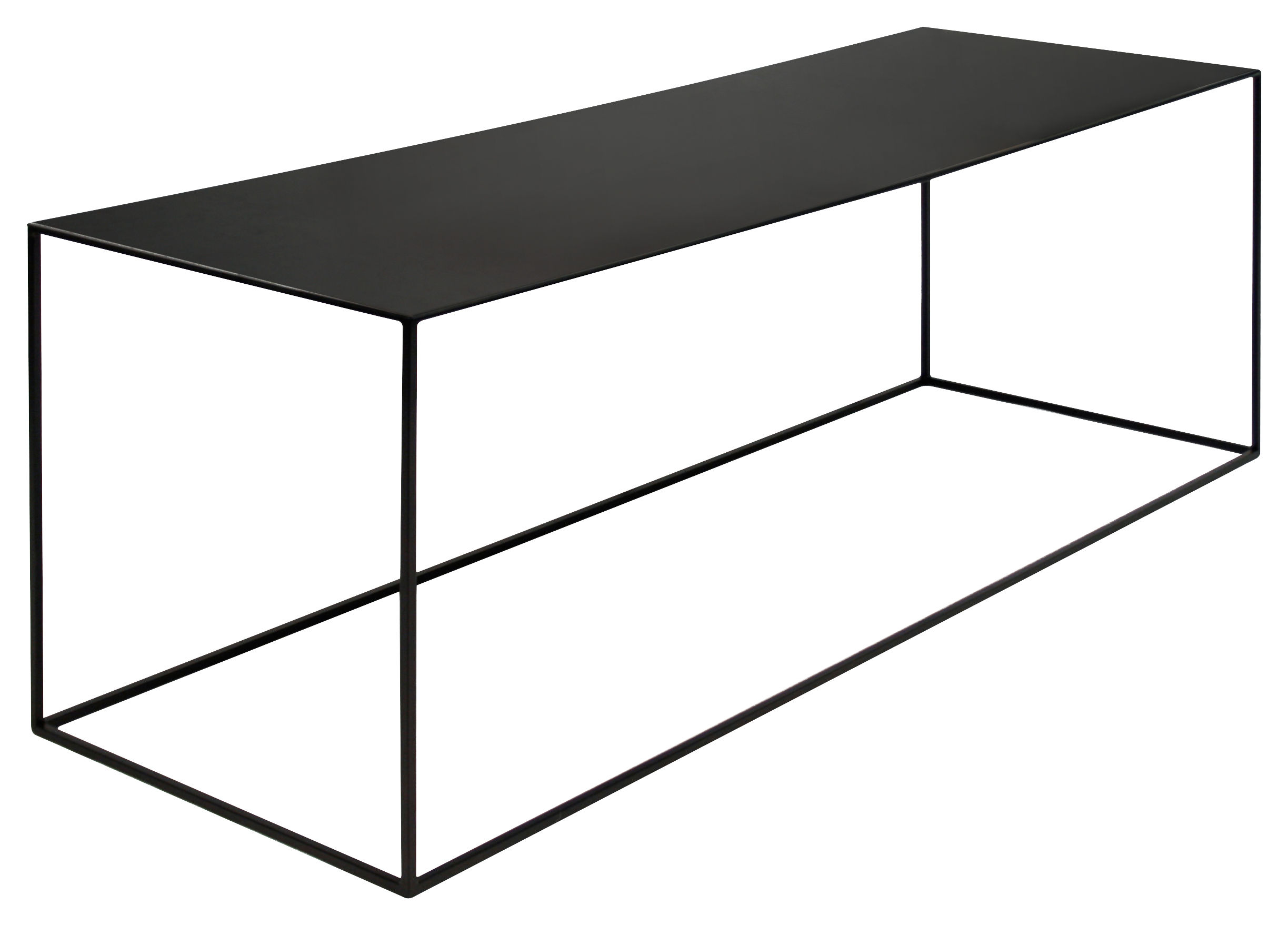 table basse slim irony zeus m tal noir cuivr pied noir cuivr h 46 made in design. Black Bedroom Furniture Sets. Home Design Ideas