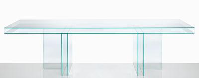 Table rectangulaire Verglas / 300 x 100 cm - Glas Italia transparent en verre