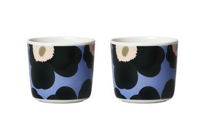 Tasse à café Unikko / Sans anse - Set de 2 - Marimekko bleu clair,vert foncé,pêche en céramique
