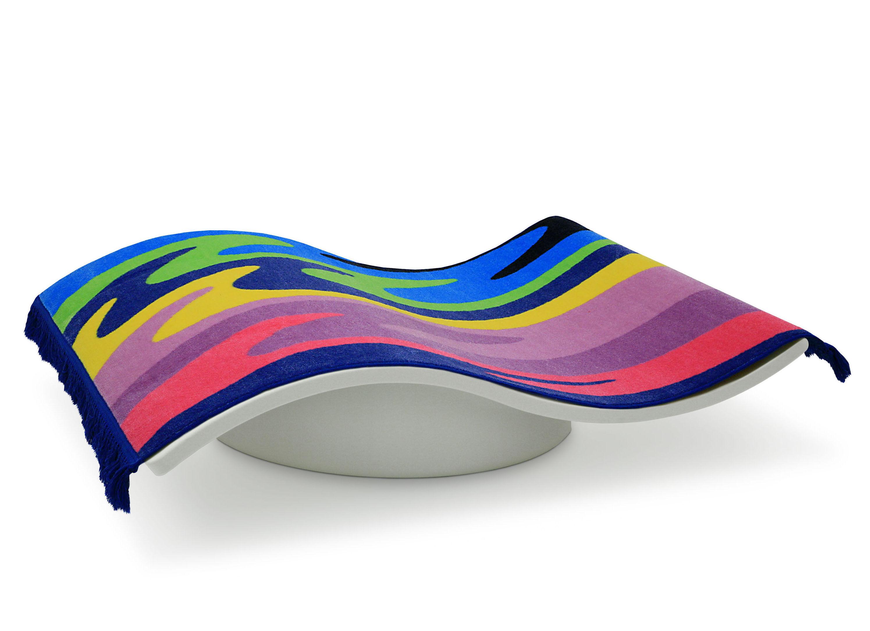 Möbel - Möbel für Kinder - Flying Carpet Teppich / Wippbrett für Kinder - Magis Collection Me Too - Weiß & mehrfarbig - Polyäthylen