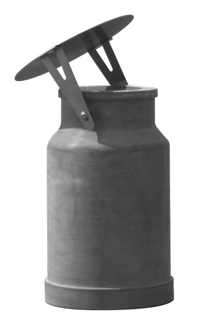 Leuchten - Tischleuchten - Via lattea Tischleuchte / outdoorgeeignet - Zement - H 37 cm - Karman - Outdoor-Lampe / grau - Zement