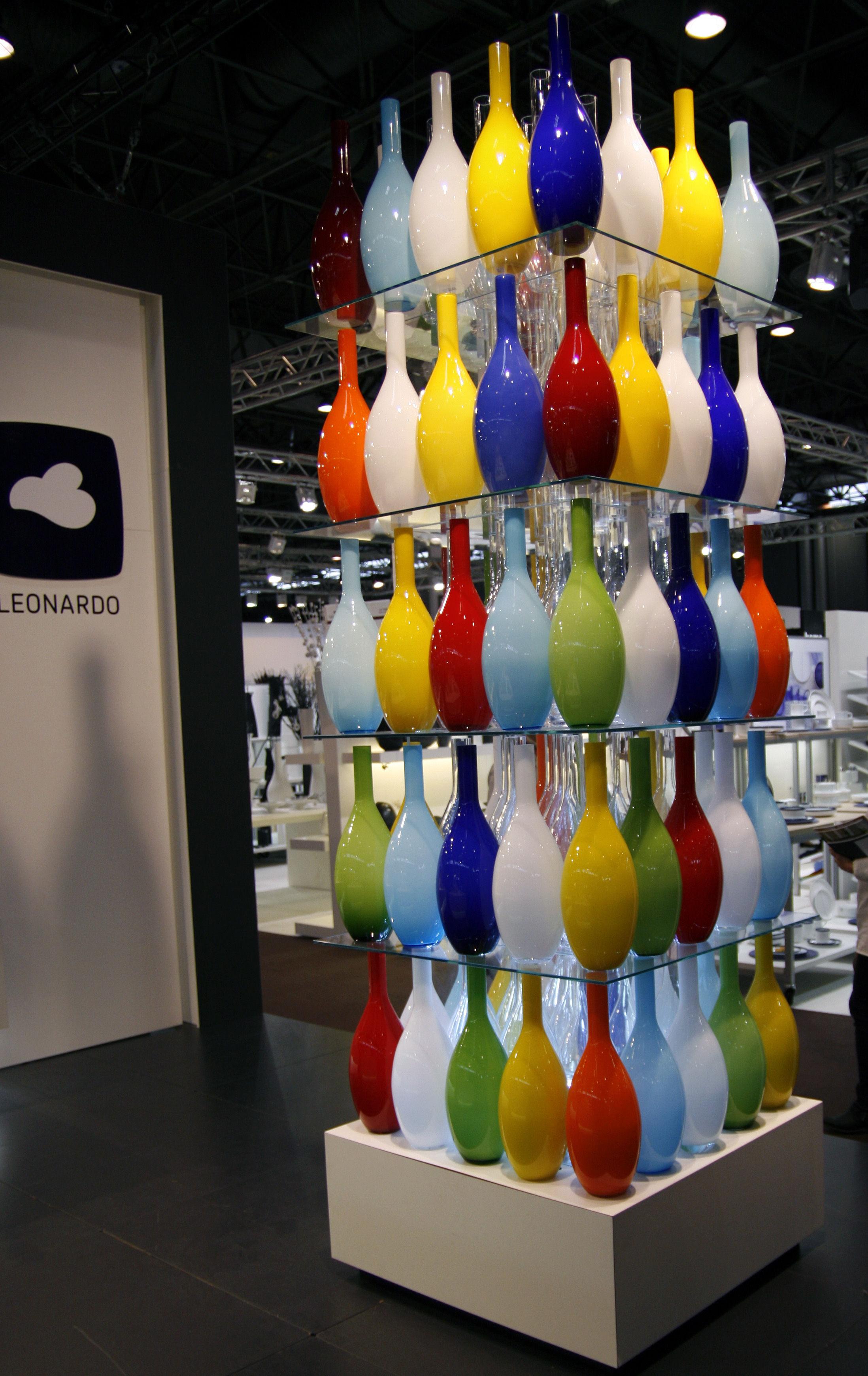 Déco - Vases - Vase Beauty H 50 cm - Leonardo - Rouge - Verre