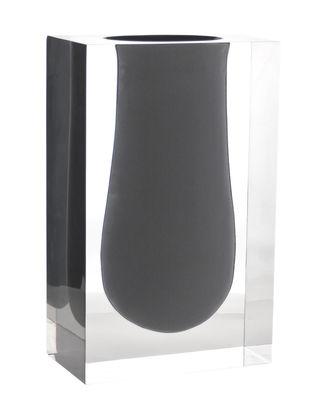 Déco - Vases - Vase Bel Air Mega Scoop / Acrylique - Rectangle H 33 cm - Jonathan Adler - Gris / Transparent - Acrylique