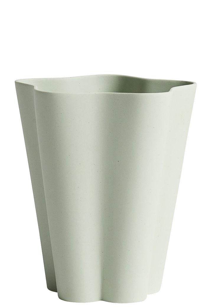 Dekoration - Vasen - Iris Small Vase / Ø 11 x H 13 cm - Handgemacht - Hay - Grün - Porzellan