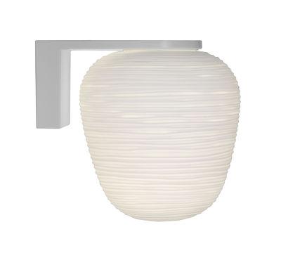 Lighting - Wall Lights - Rituals 3 Wall light - Ø 19 x H 21 cm by Foscarini - H 21 cm / White - Lacquered metal, Mouth blown glass