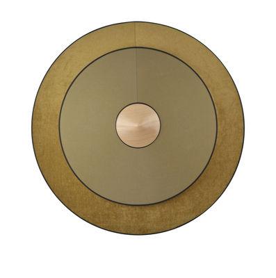 Cymbal LED Wandleuchte / Large - Ø 70 cm - Stoff - Forestier - Bronze,Eiche natur