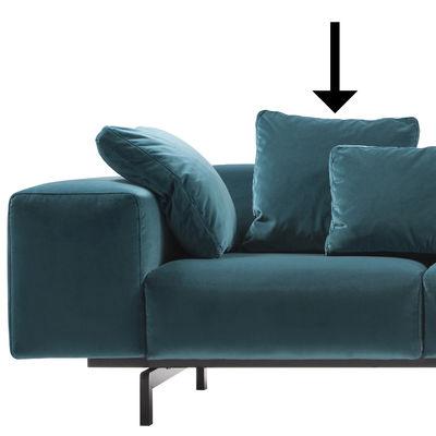 Accessoire canapé / Coussin pour canapé Largo - Velours - 48 x 48 cm - Kartell bleu canard en tissu