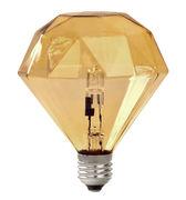 Ampoule halogène E27 Diamond Light / 15W - Frama ambre en verre