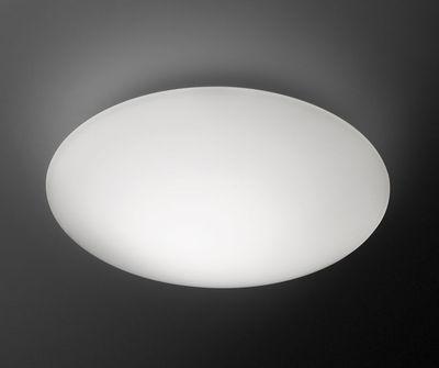 Applique Puck LED / Plafonnier - Ø 27 cm - Vibia blanc en verre