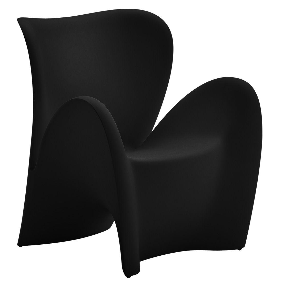 Furniture - Armchairs - Lily Armchair - Indoor & outdoor - Matt by MyYour - Black - Plastic material