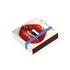 Boîte d'allumettes Rouge baiser / 10 x 10 cm - Image Republic