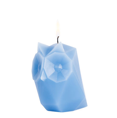 Interni - Candele, Portacandele, Lampade - Candela Pyro Pet Ugla - / Gufo - Struttura in metallo di Pa Design - Gufo / blu - Alluminio, Cera
