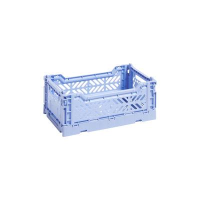 Image of Cestino Colour Crate - Small / 26 x 17 cm di Hay - Blu - Materiale plastico