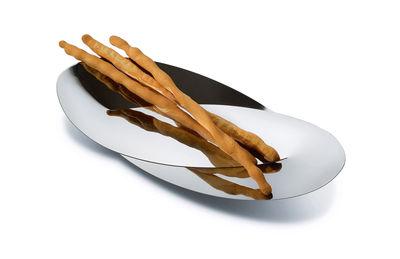 Tavola - Cesti, Fruttiere e Centrotavola - Cesto Octave - / Per pane o grissini - L 41.5 cm di Alessi - Acciaio lucidato - Acciaio inox 18/10