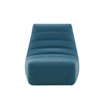 Mobilier - Canapés - Chauffeuse Saparella (1965) / Similicuir - Module latéral - Cinna - Bleu Canard (Similicuir) - Mousse polyuréthane, Similicuir