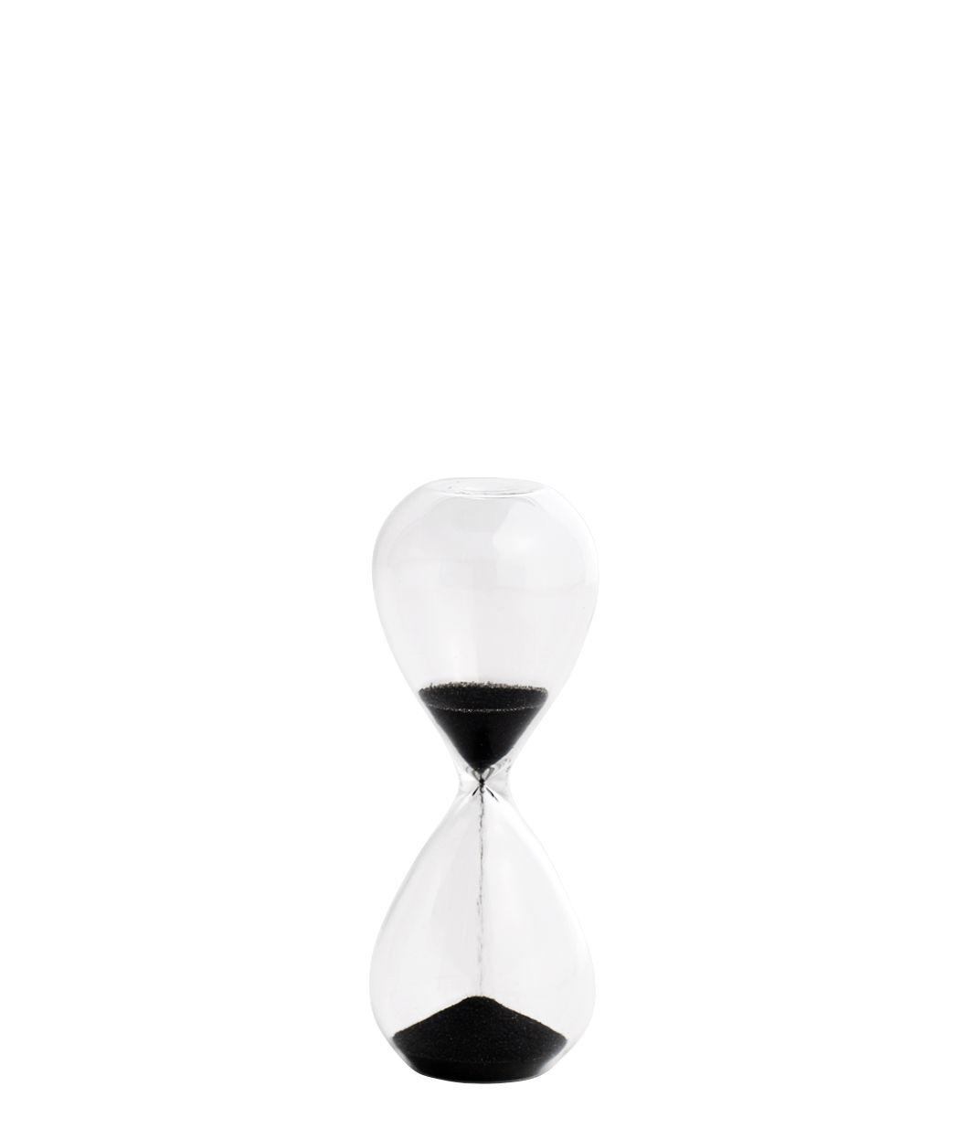 Cucina - Utensili da cucina - Clessidra Time Small - / 3 Minuti - H 9 cm di Hay - Trasparente / nero - sabbia, Vetro