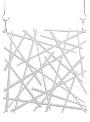 Mobilier - Paravents, séparations - Cloison Stixx / Set de 4 - Crochets inclus - Koziol - Blanc opaque - Polycarbonate