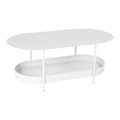 Furniture - Coffee Tables - Salsa Coffee table - / 119 x 58 cm by Fermob - Cotton white - Powder coated steel