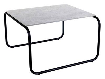 Furniture - Coffee Tables - Yoso Small Coffee table - 54 x 54 x H 35 cm / Cement by XL Boom - Grey ciment / Black -  Fibre-ciment, Epoxy lacquered steel