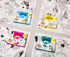 Coloriage Pocket - Licorne Colouring poster - / 52 x 38 cm by OMY Design & Play