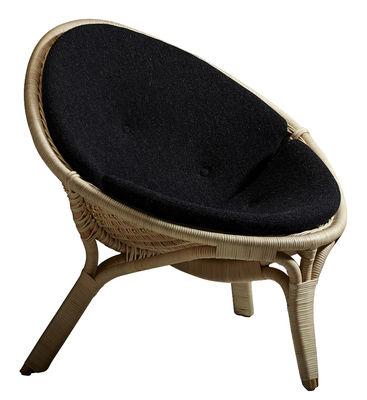 Coussin / Pour fauteuil rana - Sika Design noir en tissu