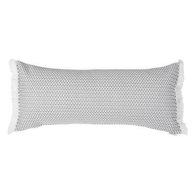 Coussin d'extérieur Evasion / 35 x 70 cm - Fermob gris/noir en tissu