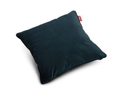 Coussin Square Velvet / Velours - 50 x 50 cm - Fatboy bleu pétrole en tissu