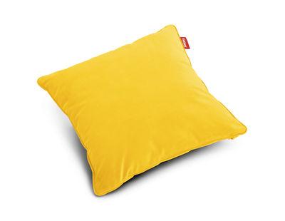 Coussin Square Velvet / Velours - 50 x 50 cm - Fatboy jaune en tissu