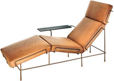 Mobilier - Fauteuils - Dormeuse Traffic / Rembourré - Magis - Cuir marron / Structure brun sepia - Cuir, Fil d'acier verni, Mousse de polyuréthane