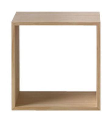 Mobilier - Etagères & bibliothèques - Etagère Stacked / Medium carré 43x43 cm / Sans fond - Muuto - Frêne - MDF finition frêne