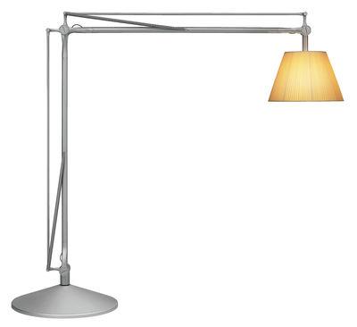Lighting - Floor lamps - Superarchimoon Floor lamp by Flos - Grey - Aluminium, Fabric