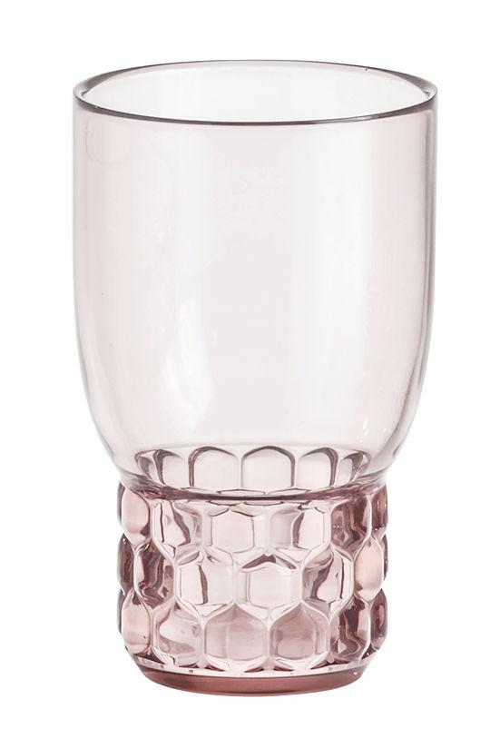 Tischkultur - Gläser - Jellies Family Glas / Größe S - H 13 cm - Kartell - Rosa - PMMA