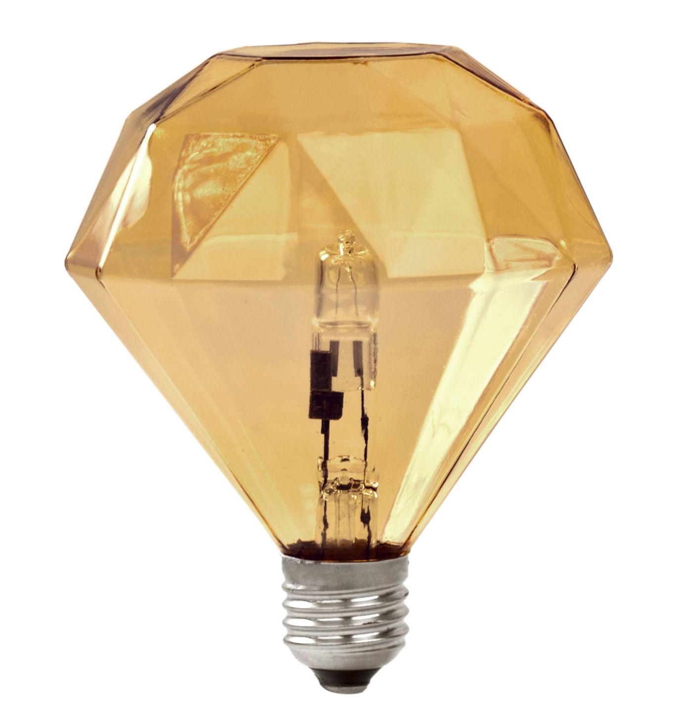 Lighting - Light Bulb & Accessories - Diamond Light Halogen bulb E27 - / E27 Halogene by Frama  - Amber - Glass