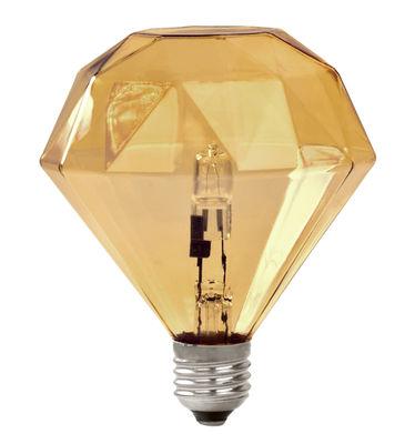 Leuchten - Glühbirnen - Diamond Light Halogen-Glühbirne E27 / E27 - Halogenlampe - Frama  - Bernsteinfarben - Glas