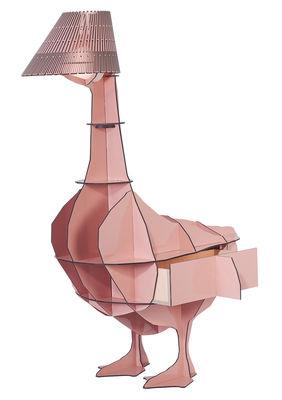 Lampe à poser Junon / Chevet - Ibride rose en matière plastique