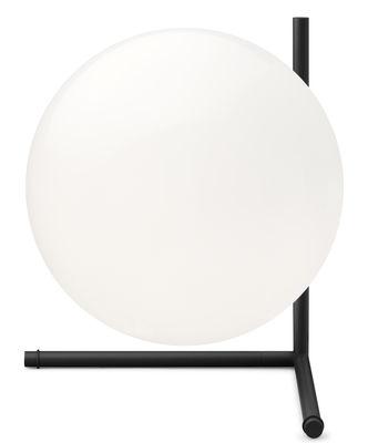Lampe de table IC T2 / H 35 cm - Flos blanc/noir en métal/verre