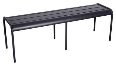 Life Style - Panchina Luxembourg - / 3-4 posti - L 145 cm di Fermob - Carbone - Alluminio laccato