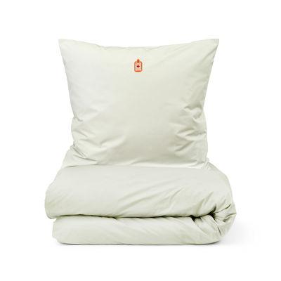 Déco - Textile - Parure de lit 2 personnes Snooze / 200 x 220 cm - Normann Copenhagen - Vert pâle / Feel Better Sunwashed - Percale de coton OEKO-TEX