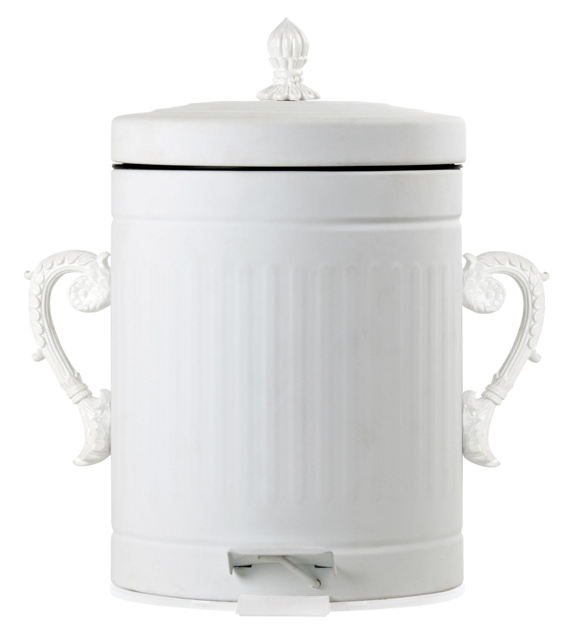 Interni - Bagno  - Pattumiera Trash Chic - 5 Litri di Seletti - Bianco - 5 litri - Metallo