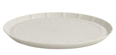 Tavola - Piatti  - Piattino da dessert Paper Porcelain / In porcellana - Hay - Grigio chiaro - Particelle di metallo, Porcellana