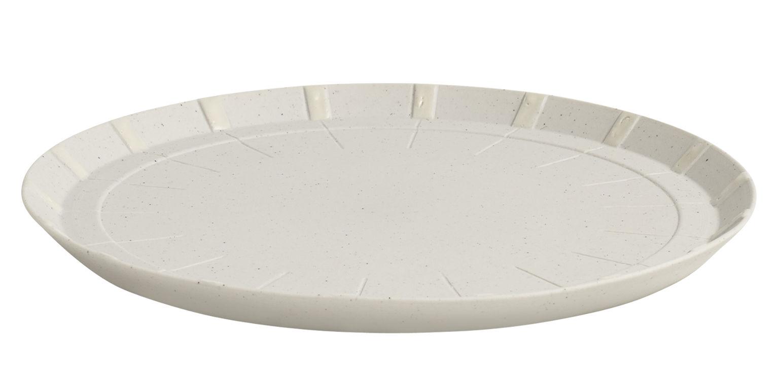 Tavola - Piatti  - Piattino da dessert Paper Porcelain / In porcellana - Hay - Grigio chiaro - Particules de métal, Porcellana