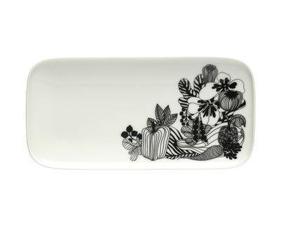 Tavola - Piatti  - Piatto Siirtolapuutarha - / 12 x 24,5 cm di Marimekko - Siirtolapuutarha / Nero & bianco - Gres