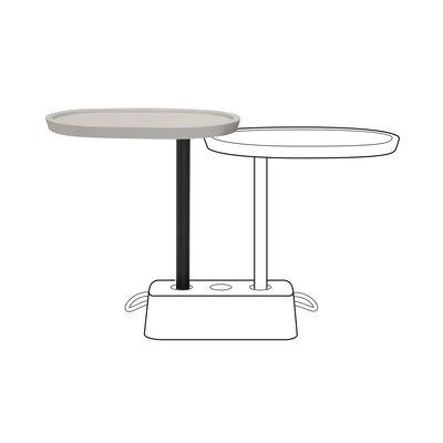Plateau supplémentaire Brick's Buddy / Pour table Brick - H 67,5 cm / Rotatif - Fatboy beige en matière plastique