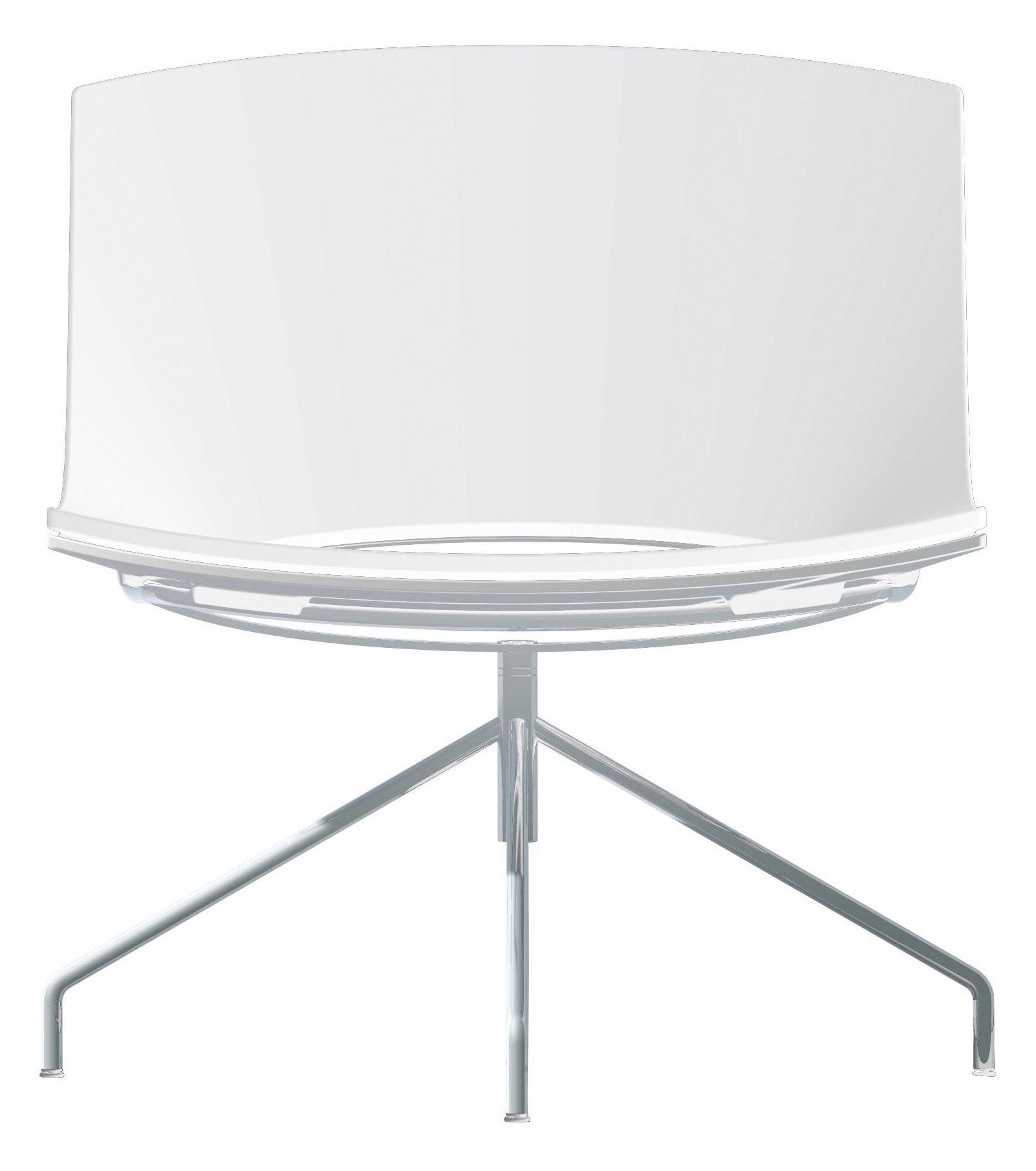 Arredamento - Poltrone design  - Poltrona girevole Oh! - 4 piedi di Enea - Bianco - Acciaio laccato, Polipropilene