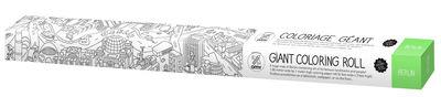Poster à colorier XXL Berlin / 180 x 100 cm - OMY Design & Play blanc/noir en papier