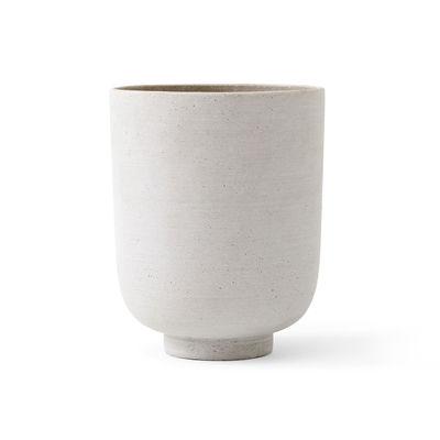Jardin - Pots et plantes - Pot de fleurs Collect SC72 / Ø 20 x H 24 cm - Polystone - &tradition - Argent - Polystone