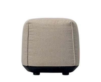 Arredamento - Pouf - Pouf Brioni OUTDOOR - / Per esterno - Small di Kristalia - Beige frassino - Poliestere, Poliuretano, Tela Sunbrella