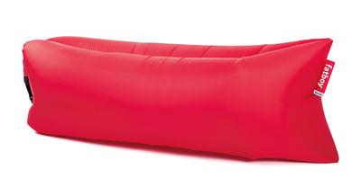 Pouf gonflable Lamzac the Original 2.0 / L 200 cm - Nylon - Fatboy Pouf gonflé : L 200 x larg. 90 cm x H 50 cm - Pouf plié : L 35 x Ø 18 cm rouge en tissu