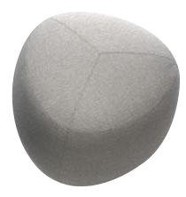 Mobilier - Poufs - Pouf Kipu Small / 57 x 57 cm - Lapalma - Gris Clair - Mousse polyuréthane, Tissu Kvadrat